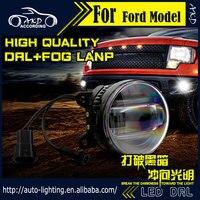 AKD Car Styling Fog Light For Honda Civic DRL LED Fog Light LED Headlight 90mm High