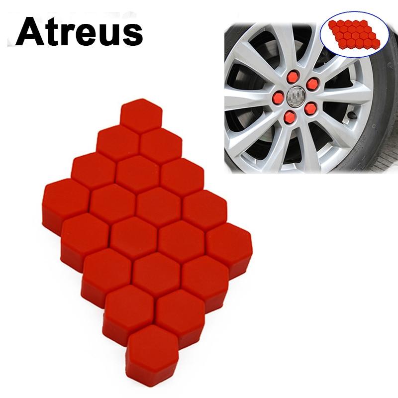 Atreus 20X For Mitsubishi ASX Suzuki Subaru Acura Jeep Renegade Fiat 500 Hyundai Car Wheel Tires Hub Caps Screw Covers Styling