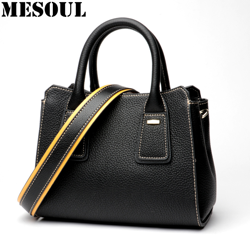 Luxury Designer Handbags Women Wide Shoulder Strap Shoulder Bag 2018 New Genuine Leather Fashion Small Crossbody