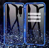Étui de protection magnétique de luxe pour Xiao mi mi 9 étui 360 Transparent en verre trempé étui arrière Xiao mi 9 coque