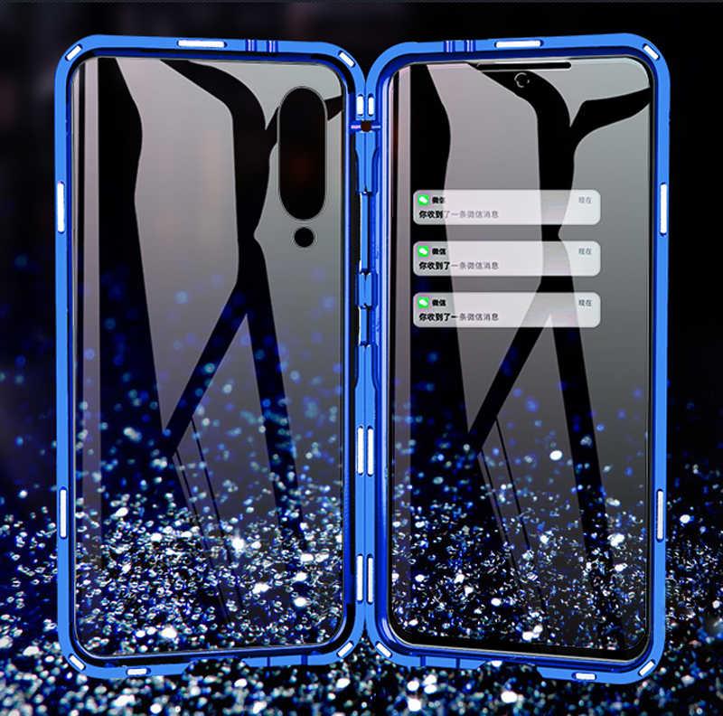 غلاف مغناطيسي فاخر لحماية الجسم بالكامل لهاتف Xiao mi 9 حافظة ظهر من الزجاج المقسى 360 شفاف