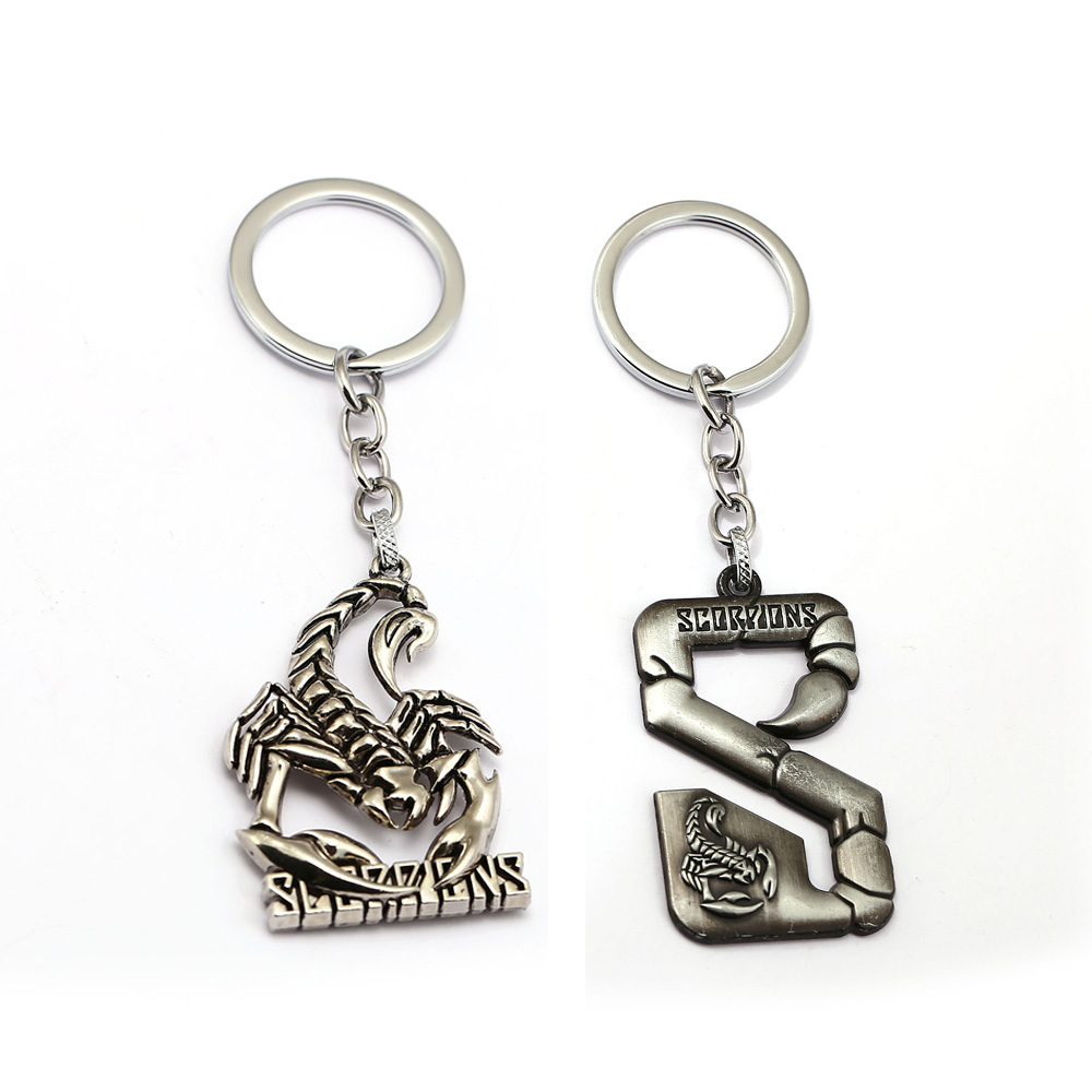 Rock Band Scorpions Keychain Metal Scorpion Key Ring Holder Car Bag Chaveiro Key Chain Pendant Men Christmas Gift Jewelry doctor who key chain tardis key rings for gift chaveiro car keychain jewelry movie key holder souvenir ys11116