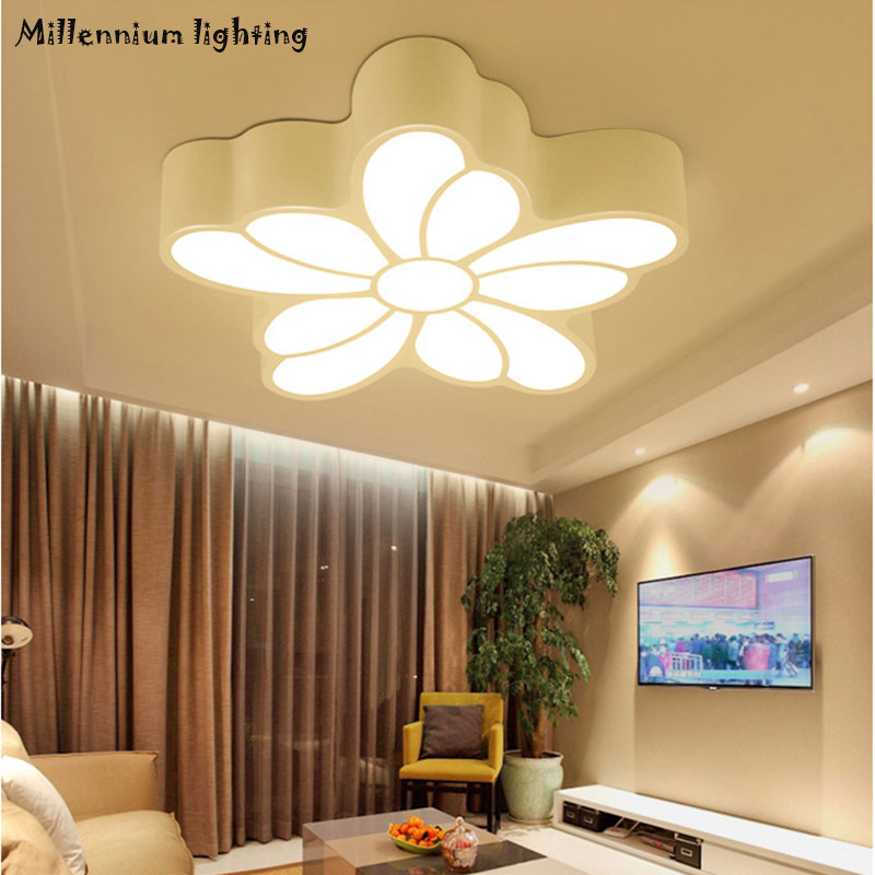 Variable light LED ceiling lamp living room bedroom dining room balcony ceiling lighting modern minimalist AC110-240V Qian Xia platform bowkont flocking snow boots