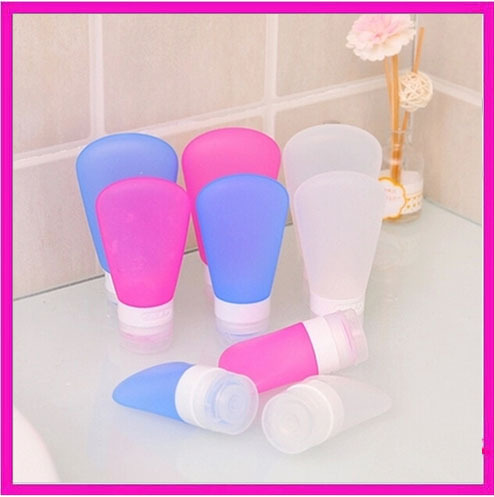 3pcs/Lot Food Grade Silicone Leak Proof Design Travel Tube Squeeze/Refillable Bottle Empty Comestic Container