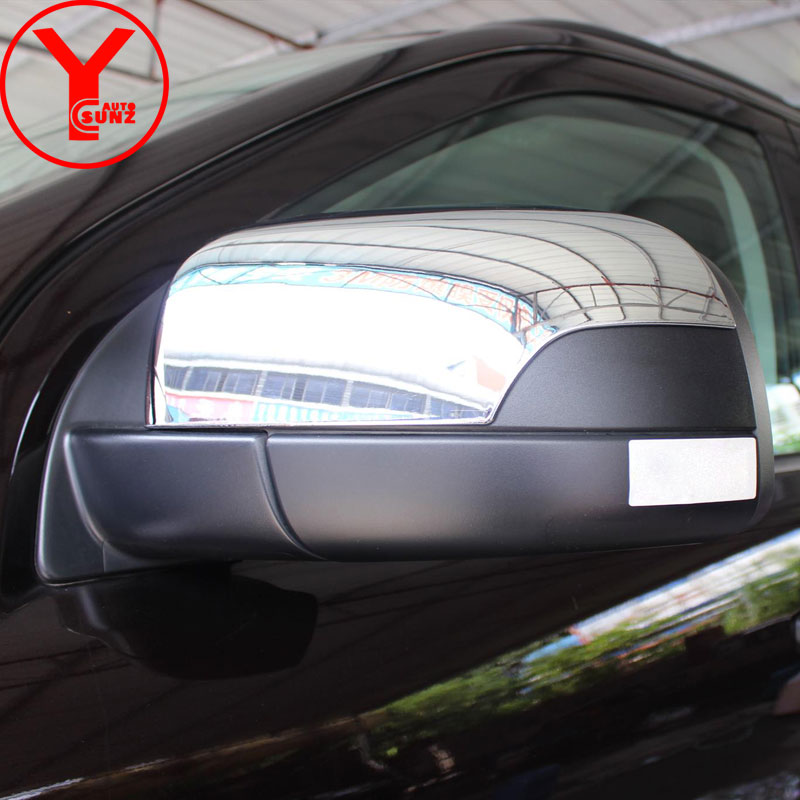 YCSUNZ ABS Chrome Car Styling Mirror Cover Rearview Mirror Cover Auto Accessories For Ford Everest Ranger T7 2015 2016 2017 2018