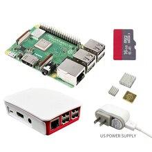 2018 nouveau Raspberry original Pi 3 modèle B + plus carte + dissipateur de chaleur + adaptateur secteur alimentation 1 GB LPDDR2 Quad Core WiFi & Bluetooth