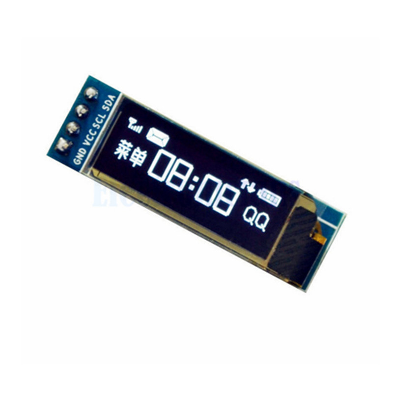 0.91 inch White <font><b>OLED</b></font> LCD <font><b>Display</b></font> Module 128x32 <font><b>I2C</b></font> IIC Serial 0.91