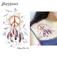 1PC Dreamcatcher Tattoo Peace Bird Feather Temporary Sticker HB632 Indian Dream Catcher Women Henna Body Art Tattoo Sexy Product