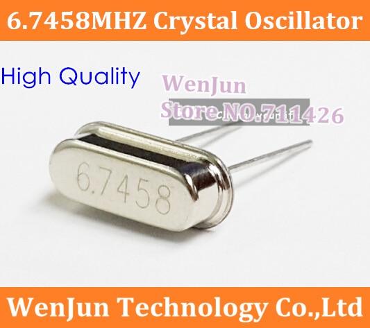 Free Shipping 6 7458MHZ crystal oscillator 6 7458M 6 7458 passive crystal quartz Free Shipping quartz