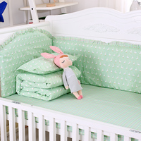 9pcs/set Cute Decorative Bedding Set Comfortable Infant Crib Bedding Set Soft Quilt With Filling Baby Bedding Article Baby Items