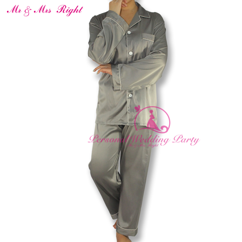New Sexy Nightwear Soft Satin Robe Women Long Sleeve Solid Color V Neck Family Set Christmas Gift Pajamas Fashion Nightgown