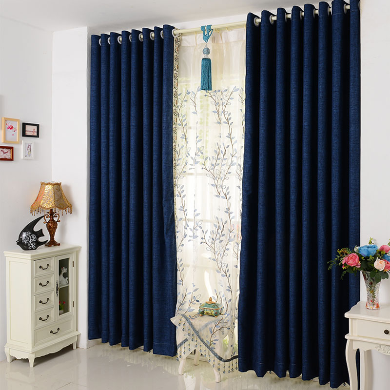 Modern and simple solid color cotton curtain fabric for Curtain fabric ideas for living room