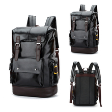 2019 Pu Leather Backpack For School Computer Men Women 15.6 Inch Laptop Bag Notebook Business Travel Backpacks Male Boy Girl Bag стоимость