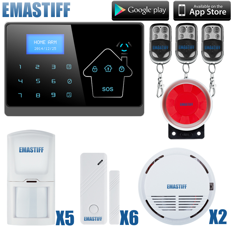 APP Control Wireless GSM PSTN Home House Alarm Security System Autodial IOS Android remote arm/disarm new kerui home protection gsm pstn ios android app remote quad 4 bands wireless autodial house burglar door alarm secure system