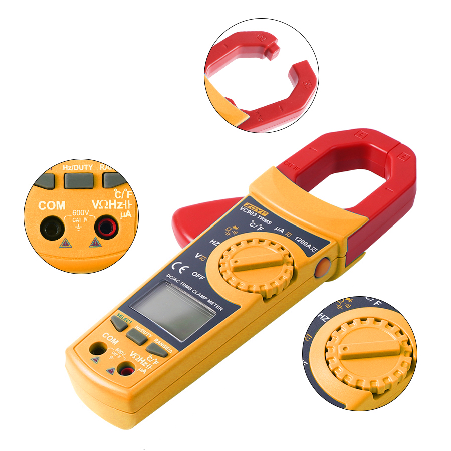 ZOYI VC903 Portable Digital Clamp Meter 6000 Counts 1000A AC Clamp Meter Resistance Capacitance Temperature Digital Multimeter цены