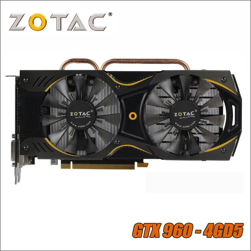 ZOTAC Video Card GeForce GTX 960 4G 4GB 128Bit GDDR5 Graphics Cards for nVIDIA Original GTX960 750 750ti 1050ti 1050 ti 4GD5ZOTAC Video Card GeForce GTX 960 4G 4GB 128Bit GDDR5 Graphics Cards for nVIDIA Original GTX960 750 750ti 1050ti 1050 ti 4GD5