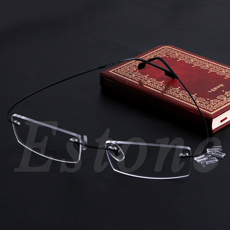 Fashion Metal Rimless Eye Glasses Solid Spectacle Frames Reading Glasses For Women Men Unsex