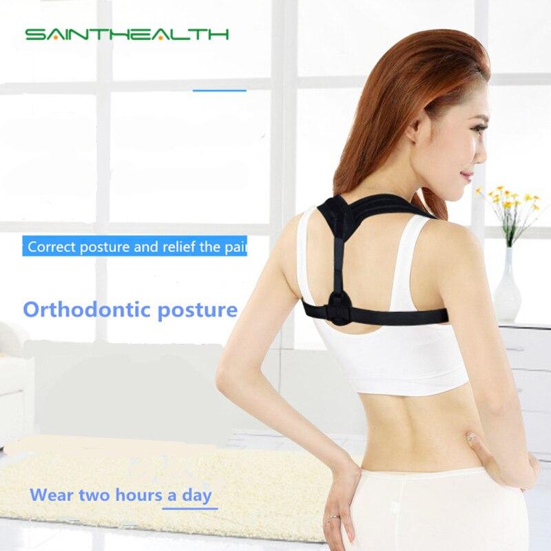 Corrector de postura de la parte superior de la espalda clavícula soporte de la correa de la espalda ajuste correctivo Corrector de la postura de la columna ortopédica apoya la salud