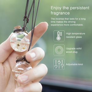 Автомобильная подвесная подвеска бутылка освежитель воздуха с цветком Авто эфирные масла парфюмерная бутылка диффузор Автомобильные украшения