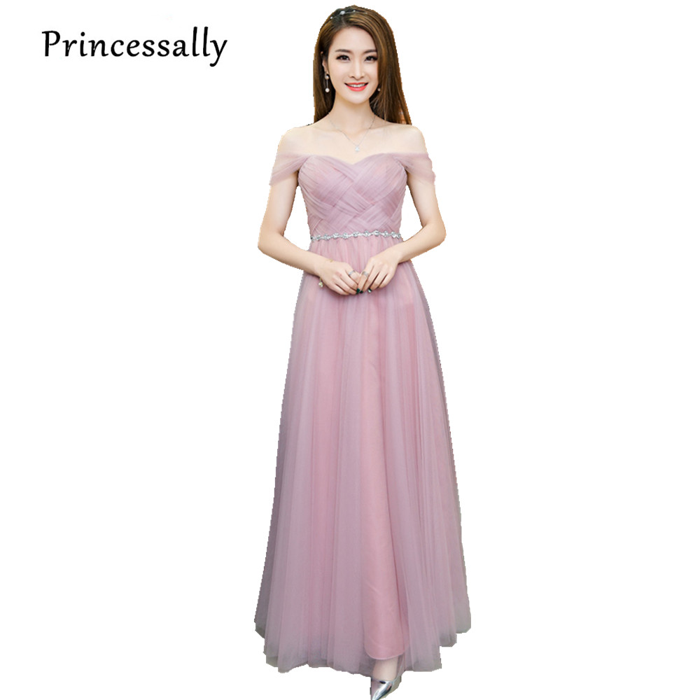 Aliexpresscom Buy Dusty Pink Long Bridesmaid Dress Sweetheart