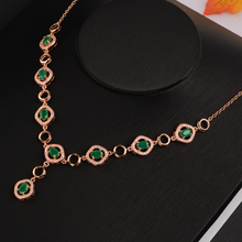 Green Emerald Statement Necklace  925 Sterling Silver May Birthstone Gemstone Fine Jewelry for Women collares largos plata 925