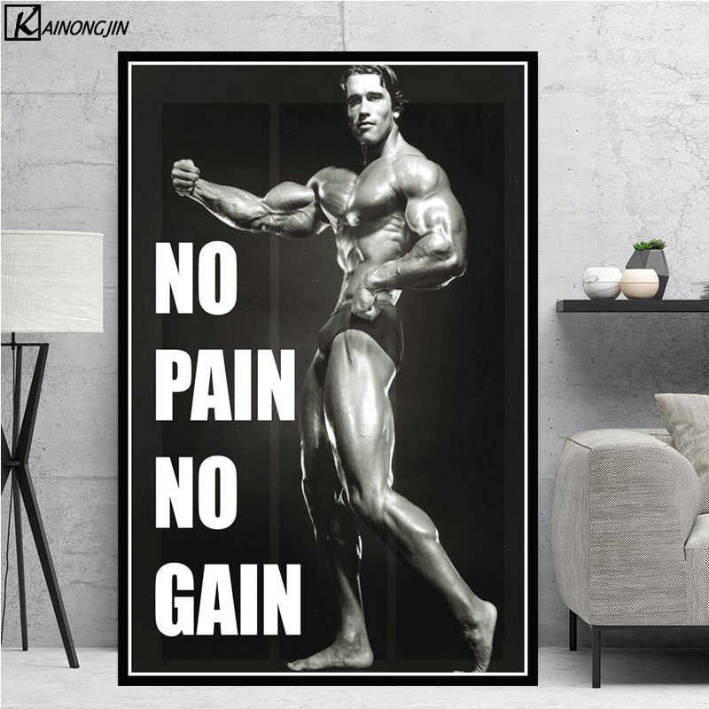 Posters And Prints Arnold Schwarzenegger Poster Bodybuilding Fitness Gym Workout Canvas Painting Wall Art For Living Room Decor Aliexpress