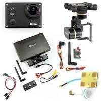 DIY Drone FPV Set With 600mw Transmitter 7 Inch FPV Monitor Feiyu G3 3 Axis Gimbal