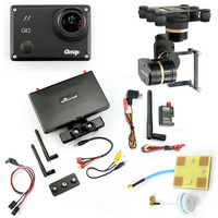 DIY Drone FPV Set With 600mw Transmitter 7 Inch FPV Monitor Feiyu G3 3 Axis Gimbal