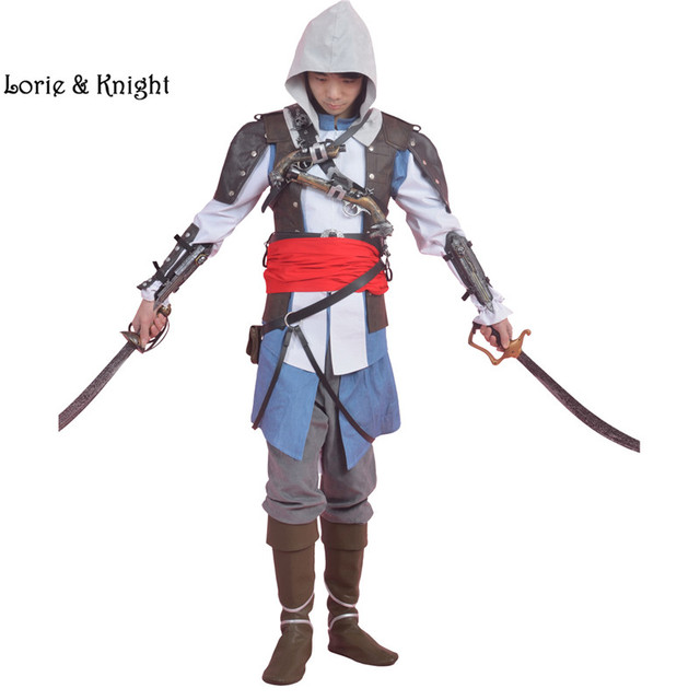 personnalis assassins creed costume edward kenway cosplay halloween costume complet costume. Black Bedroom Furniture Sets. Home Design Ideas