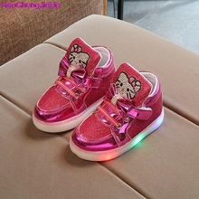 Hello Kitty Girls Flat Shoe With LED Light