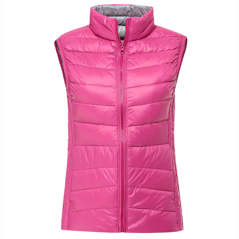ФОТО Genuine PGM Clothing Reversible Women Feather Waistcoat New Double Color Coat Ultra-light 145gSlim Down Vest Golf/Tennis Apparel