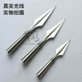 Stainless steel spear head wushu performance kungfu