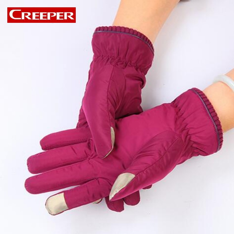 Female Winter Fleece Lined Gloves Outdoor Skiing Snowboard Guantes Cycling Motorcycle Windproof Warm Women Gloves