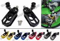 CNC Aluminum Chain Adjusters With Spool Tensioners Catena For Yamaha YZF R6 2006 2007 2008 2009
