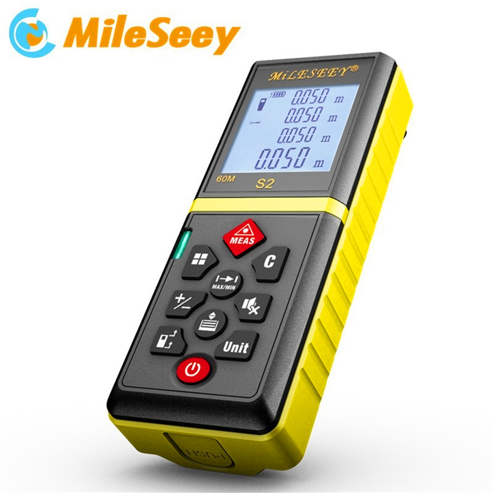 ФОТО Mileseey S2 laser distance Meter 60M Built-in Bubble Level With Smart MuteButton Area And Volume Measurement Laser RangeFinder
