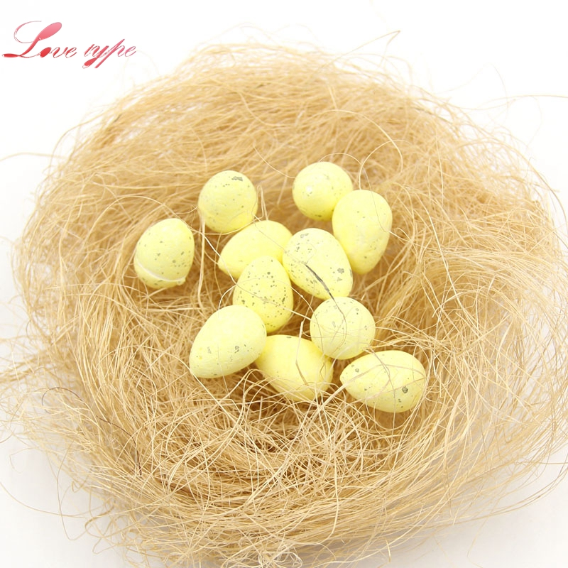 20PCS/Lot Mini Foam Sparrow Handmade Artificial Bird Egg For Wedding Home Christmas Party Decoration DIY Craft Gifts Supplies