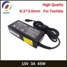Qinern 15v 3a 45w 63*30mm ac зарядное устройство для ноутбука