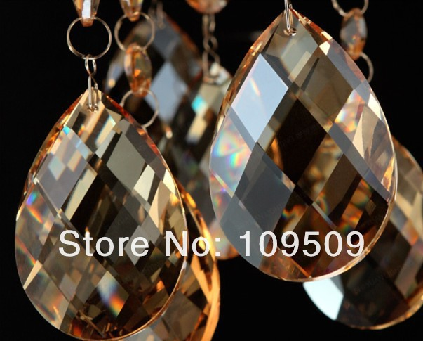 35pcs/lot Chandelier Crystals Cognac Color Almond prism 38mm Teardrop Prism Parts,Free Shipping,
