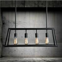 Черный винтажный промышленный подвесной светильник в стиле лофт, креативные светильники в скандинавском стиле, Ретро лампа с пауком Эдисон