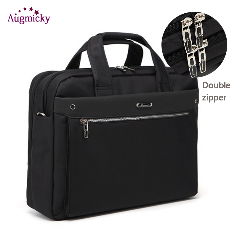 Double Zipper Large Capacity Man Business Briefcase Laptop Bag Shoulder Travel Bags Notebook Messenger Bag For 15 16 17 Inch