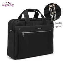 Double zipper large capacity Man Business briefcase Laptop Bag Shoulder Travel Bags Notebook Messenger Bag for 15 16 17 Inch стоимость