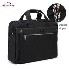 Podwójny zamek błyskawiczny o dużej pojemności człowiek walizka biznesowa torba na laptopa torba podróżna na ramię torba na notebooka 15 16 17 Cal