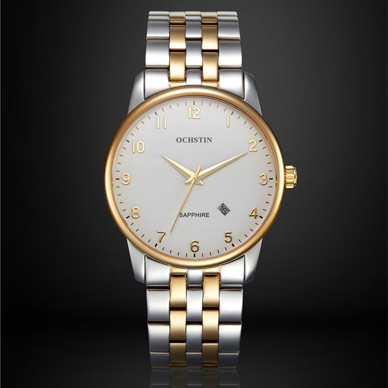 OCHSTIN Quartz Watch Men Top Brand Luxury Wrist Watches Men Clock Men's Steel Wristwatch Male Quartz-Watch Relogio Masculino 2017 ochstin luxury watch men top brand military quartz wrist male leather sport watches women men s clock fashion wristwatch
