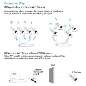 Image 4 - Zoohiワイヤレス監視システムキット1080 1080p 2MP hd無線lanカメラホームセキュリティカメラシステムナイトビジョンビデオ監視キット