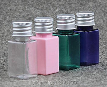 10ML Square Plastic Bottle With Aluminum Screw Cap, Cosmetic Lotion Toner Sample Packing Bottle, 100pcs/lot
