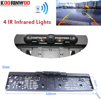 Waterproof Car Europe License Plate Frame Rearview Camera W 4 LED Night Vision European License Plate