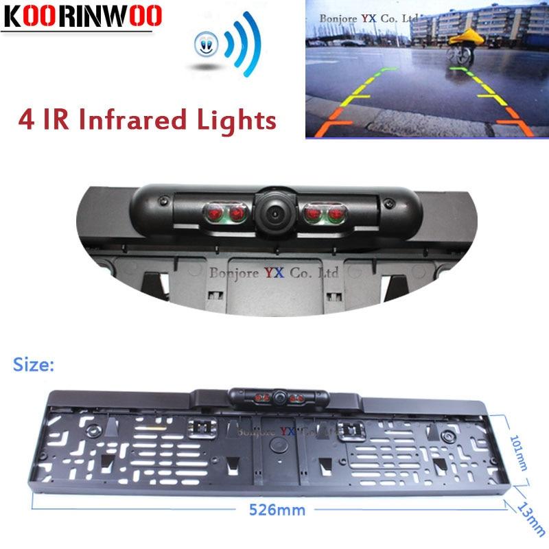 Koorinwoo Wasserdichte Auto Europa Kennzeichenhalter Rückfahrkamera - Auto-Innenausstattung und Zubehör