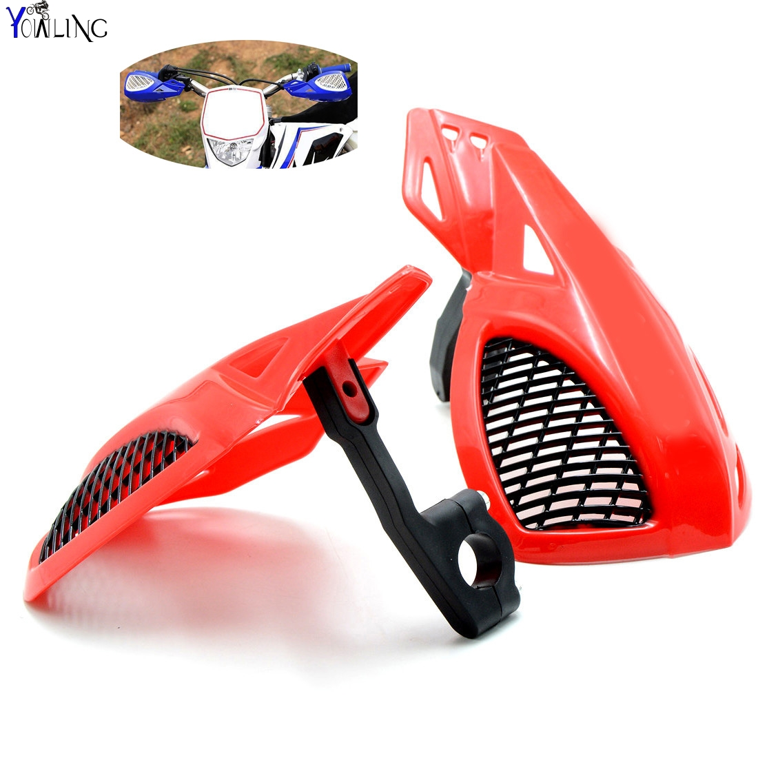 Dirt bike Motorcycle 7/8''22mm handlebar brake hand guard For HONDA CR80 CR85 CR125 CR250 CRF50 CRF70 AR F L M R X dirt bike motorcycle 7 8 22mm handlebar brake hand guard for yamaha yz250x yz426f yz450f yz450fx yz80 yz85