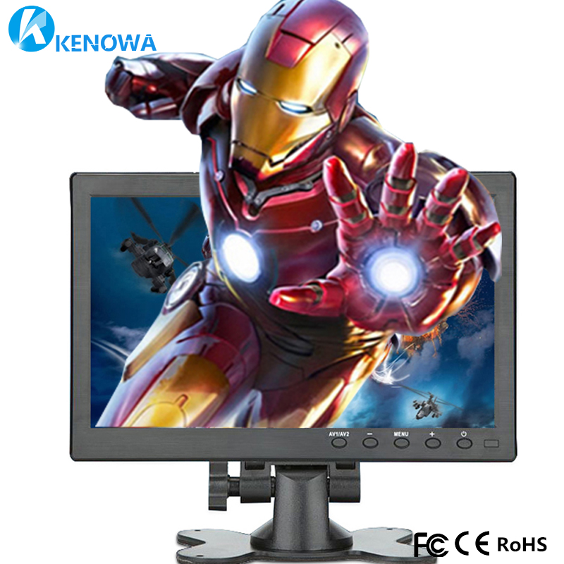 10.1 LCD HD Monitor Mini TV & Computer Display Color Screen 2 Channel Video Input Security Monitor With Speaker HDMI VGA USB TV aputure digital 7inch lcd field video monitor v screen vs 1 finehd field monitor accepts hdmi av for dslr