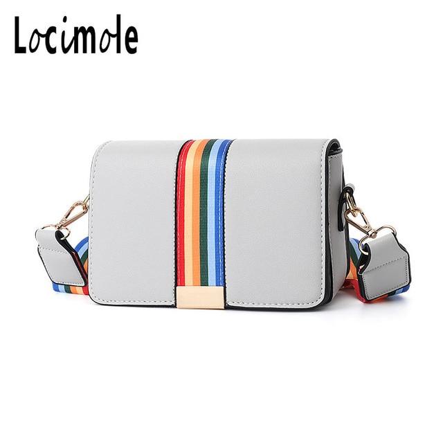Locimole Rainbow Crossbody Bags for Women Leather Luxury Handbags Hand Bag  Designer Shoulder Messenger Bag Sac 6317b84457999